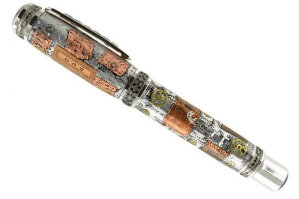 Opus Mechan Steampunk Collection Watch Parts Full-Size Rollerball & Fountain Pen