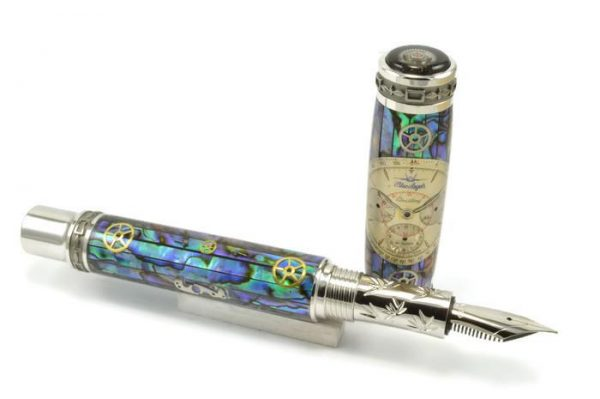 Opus Mechan Chrono Collection Full-Size MOP Breitling Blue Angel Watch Parts Pen