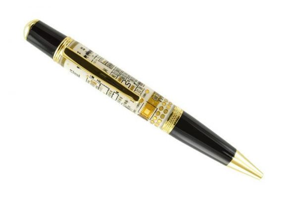 Opus Mechan Technica Collection White Circuit Board Ballpoint Pen