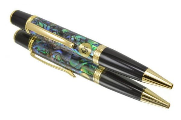 Opus Mechan La Perla Collection Gold Ballpoint Pen
