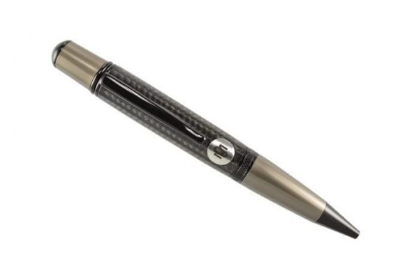 Opus Mechan Carbon Fiber 2 Tone Chrome Full Size Ballpoint Pen