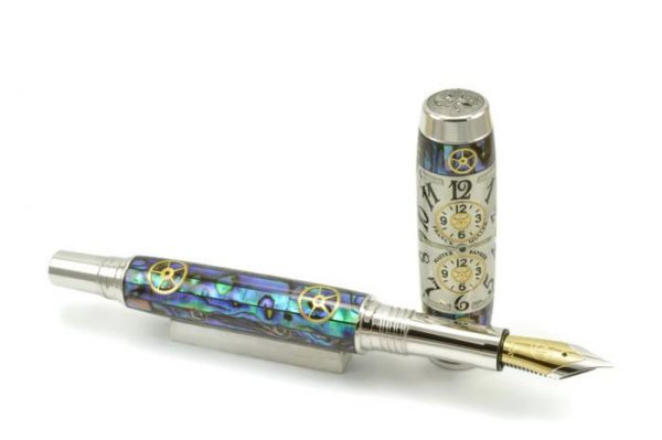 Opus Mechan Chrono Collection Franck Muller Mid-Size MOP Abalone Barrel Watch Parts Pen
