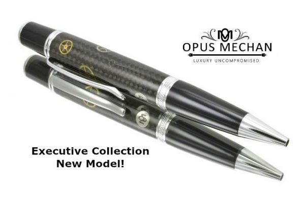 Opus Mechan Carbon Fiber Chrome Full Size Watch Part Ballpoint Pen