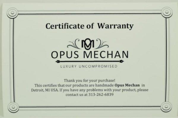 Opus Mechan Sword Brass W/Stabalized Spalted Beech