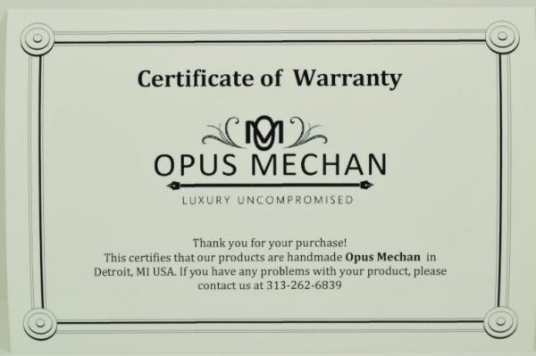 Opus Mechan Sword Brass W/Stabalized Buckeye Burl