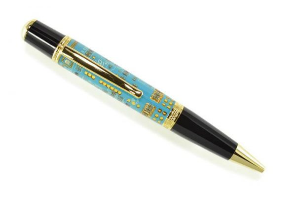 Opus Mechan Technica Collection Blue Circuit Board Ballpoint Pen