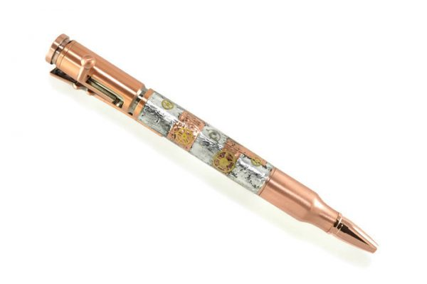 Opus Mechan Steampunk Collection Watch Part Bolt Action Ballpoint Pen